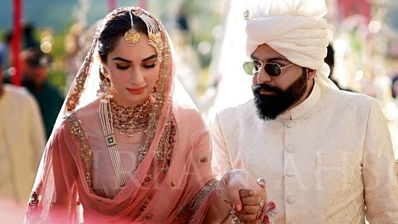 The couple wore ensembles by Ali Xeeshan of course!