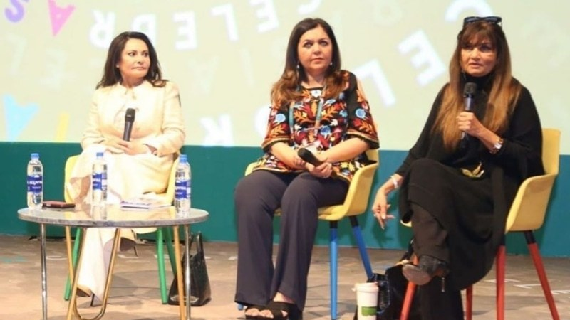 A panel featuring women who have broken the glass ceiling at Ad Asia Lahore.