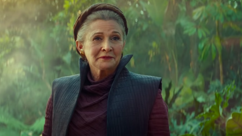 """You see her right there, and she's so vital and alive, and to think she's not there anymore, and she won't get to see how we say goodbye to Princess Leia,"" he said."