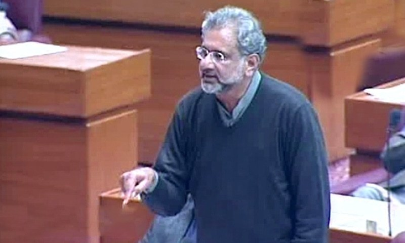 'I will not beg you': Abbasi lashes out at NA speaker for not issuing Rana Sana's production order