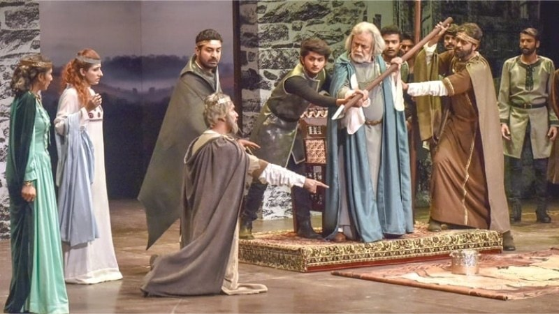 A scene from the play - White Star