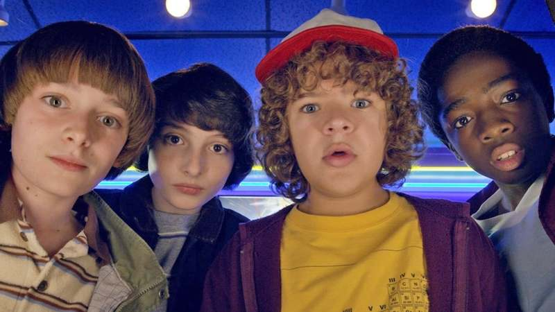 A still from the Netflix series, Stranger Things.