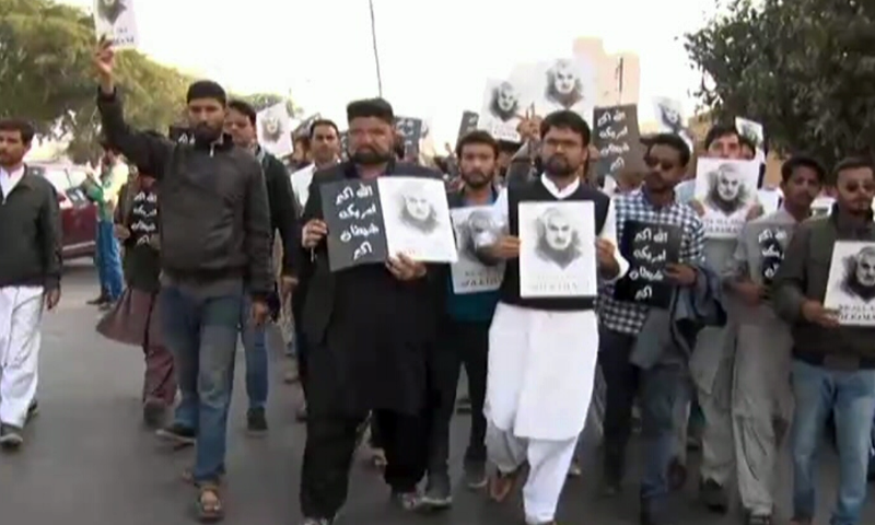 Protesters gather in Karachi, Islamabad for anti-America rally