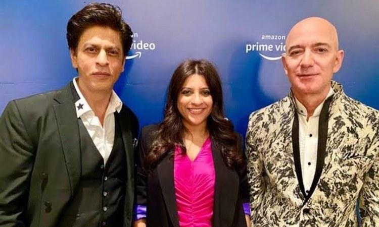 Pictured: SRK, Zoya Akhtar and Jeff Bezos