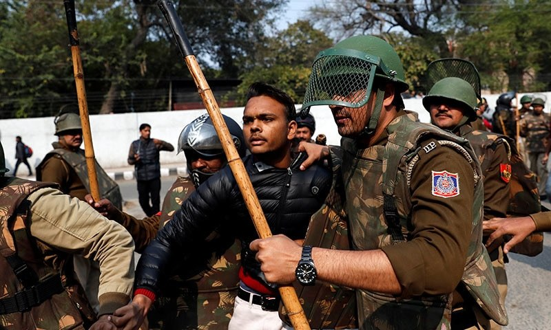 Gunman opens fire near Dehli university at protest against India's citizenship law; 1 wounded