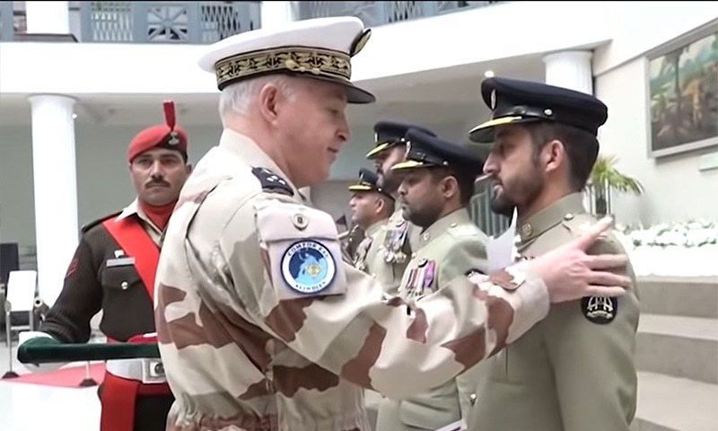 France confers medals on Pakistan Army pilots who rescued climber from Nanga Parbat