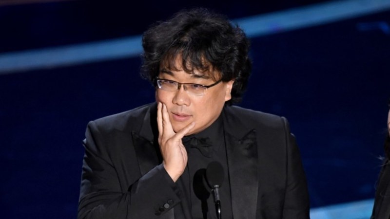 Pictured: Bong Joon-Ho, director of Parasite at the 2020 Oscars.