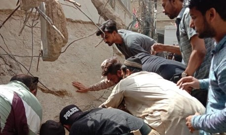 3 dead, 22 injured as five-storey residential building collapses in Karachi