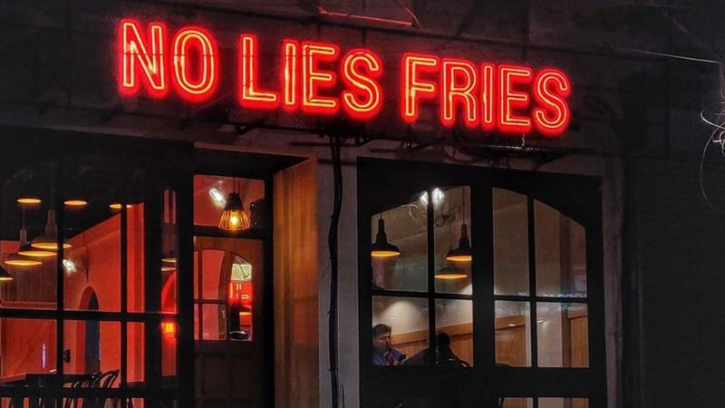 In an effort to encourage social distancing, Testkitchen by Okra, No Lies Fries and Thyme now only offer takeaway.
