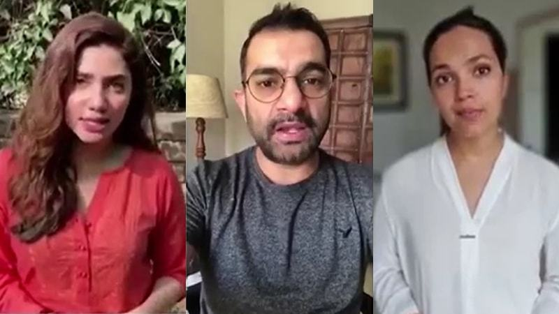 Stars like Aaminah Sheikh, Mahira Khan, Sarmad Khoosat and more raise awareness about Covid-19 and social distancing.