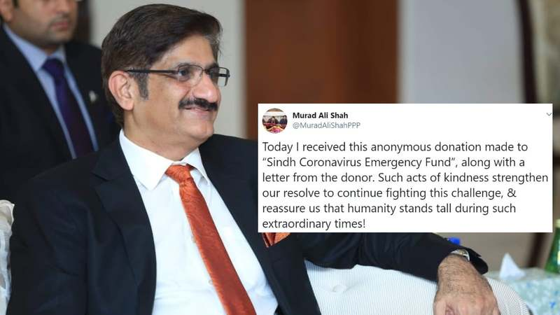 Murad Ali Shah shared the heart-warming news and let's just say, faith in humanity restored.
