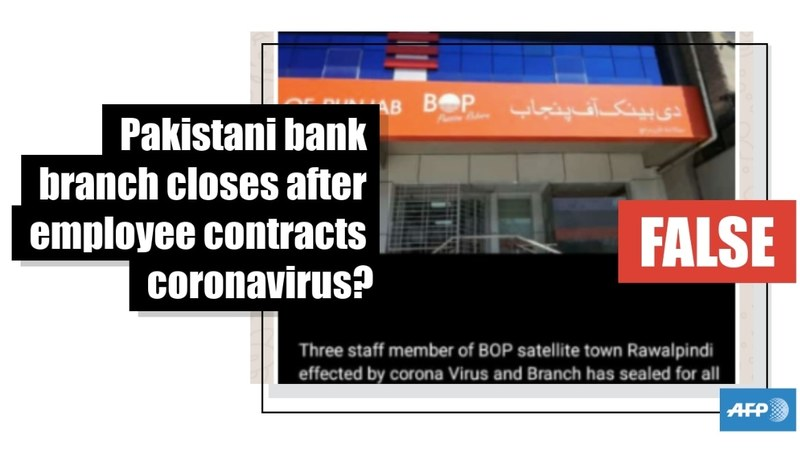 Fact Check: Bank of Punjab refutes claim that branch closed after employee contracts Covid-19