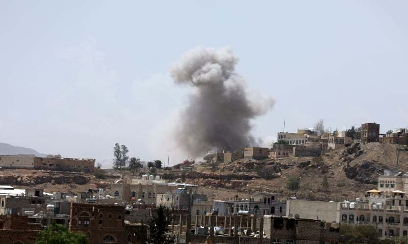 Air strikes hit Houthi-held Yemeni capital Sanaa: witnesses