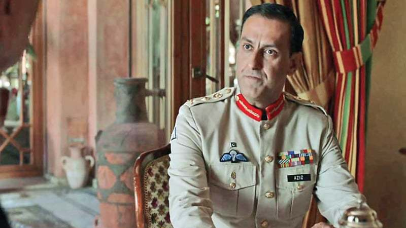 The actor made his Hollywood debut as Aziz, a Pakistani general.