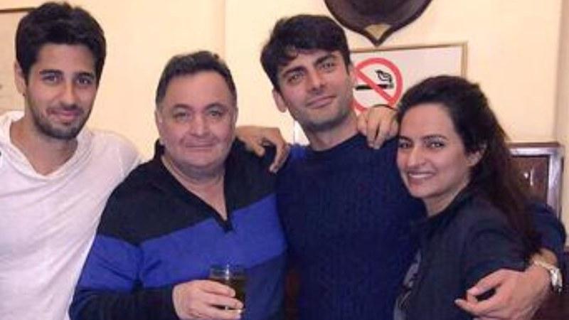Pictured: Siddharth Malhotra, Rishi Kapoor, Fawad Khan and Sadaf Fawad Khan