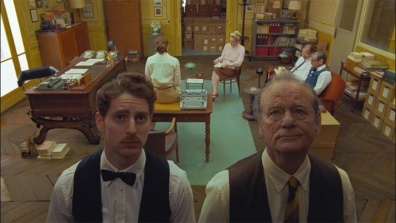 A still from Wes Anderson's The French Dispatch which was headed to Cannes
