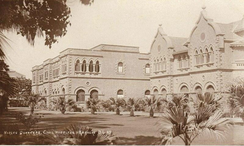 سول ہسپتال کراچی میں نرسوں کے کوارٹرز