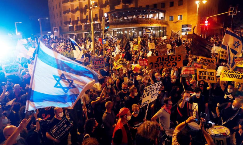 'Your time is up': Thousands protest in opposition to Netanyahu over dealing with of Covid-19 and alleged corruption – World