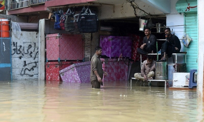 Monsoon floods expose blockages in Karachi's drains — and politics