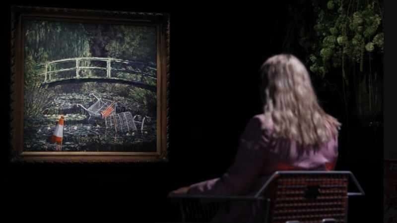 Banksy take on Monet masterpiece sells for £7.6m