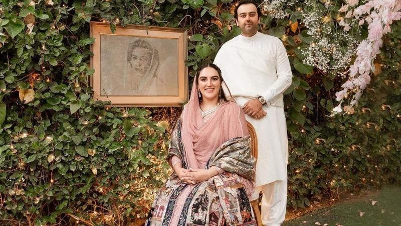 Bakhtawar Bhutto-Zardari with her fiancé, Mahmood Chaudhry