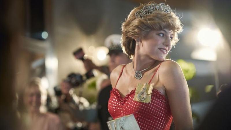 Emma Corrin as Lady Diana in The Crown —Screengrab