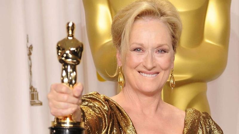 Pictured: Meryl Streep with one of her many Oscars. —Photo credit: CNBC
