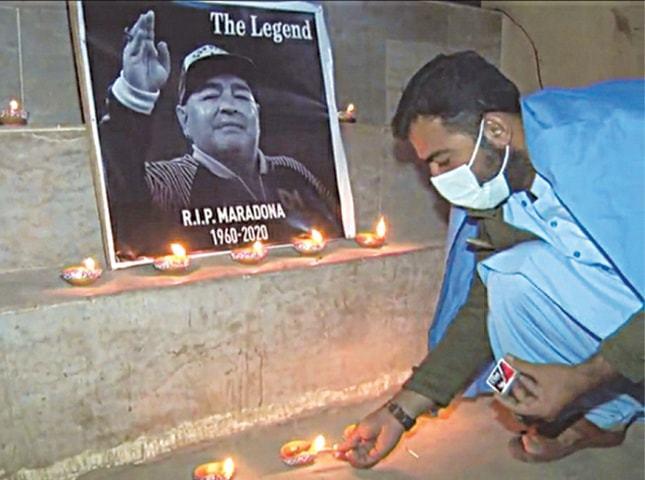 میراڈونا کے لیے دعائیہ تقریبات کا انعقاد