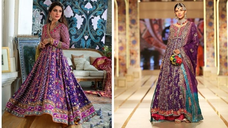 Farah Talib Aziz's design on the left and Haris Shakeel's on the right