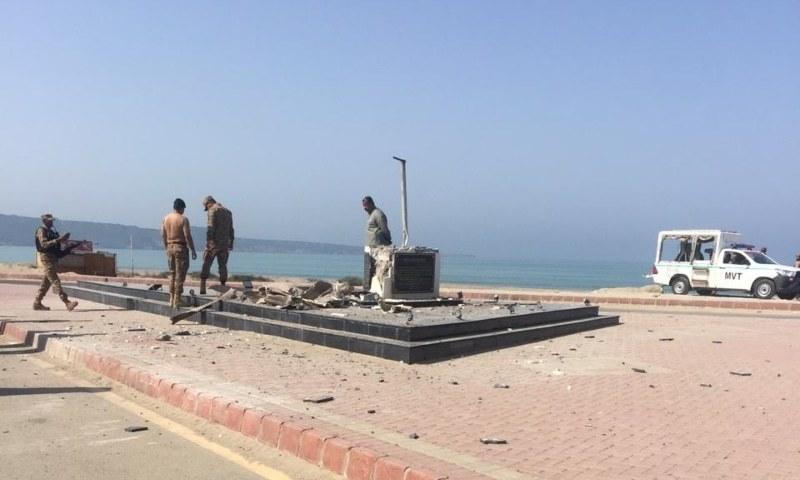 Quaid's statue destroyed in Gwadar