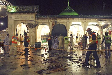 The aftermath of the 2010 Data Darbar attack in Lahore.