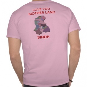 A T-Shirt that has become popular among young educated Sindhis.