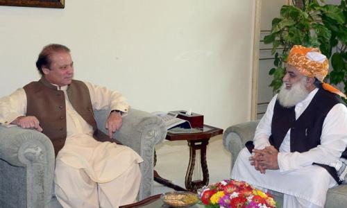 Fazl meets Nawaz; JUI-F to sit on treasury benches in NA, Senate