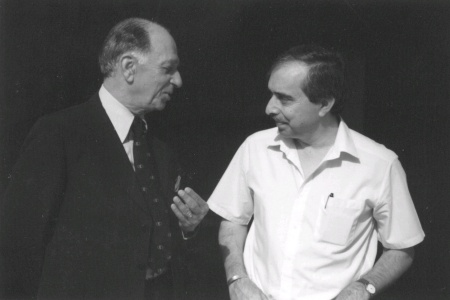 Kardar (left) with famous Pakistani journalist, late Khalid Hussain, in Lahore (1989).
