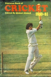 Miandad on the cover of the 1980 edition of (the now defunct) Pakistan Book of Cricket.