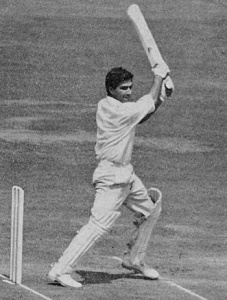 Javed Burki batting against England in 1962.