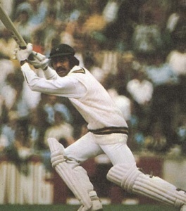 Raja on his way to smashing a quick-fire fifty against the WI during the 1975 World Cup in England.