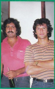Sarfraz and Imran led the Pakistan pace attack from 1976 till 1983. They were also best of friends till they fell out in the 1990s. Here they are seen at a party in Karachi during the 1980 Pakistan-Australia series.