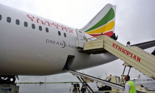 Fire on Ethiopian Airlines plane shuts London's Heathrow