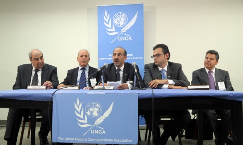 Syria coalition meets UN Security Council