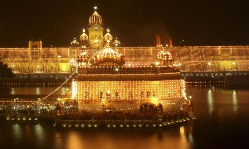 As the Golden Temple shines bright