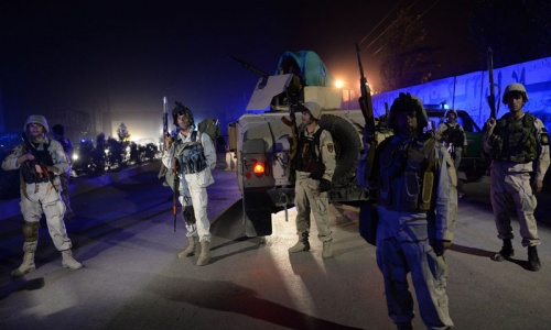 Suicide bomb in Kabul kills two outside foreign compound