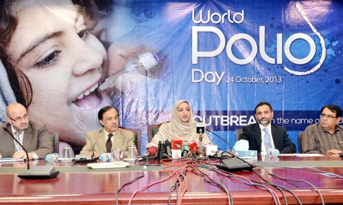 'Polio on agenda of talks with Taliban'