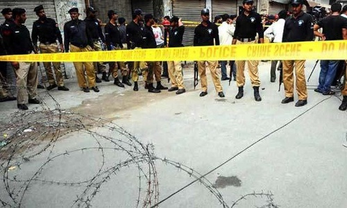 Two policemen killed in Swabi checkpost attack