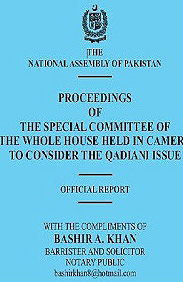 A heavily edited version of the report authored by the parliamentary committee.