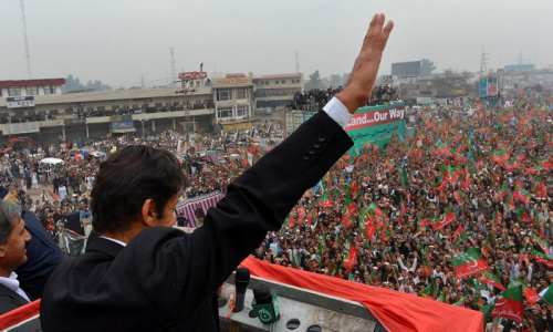 Thousands protest against drone strikes in Peshawar
