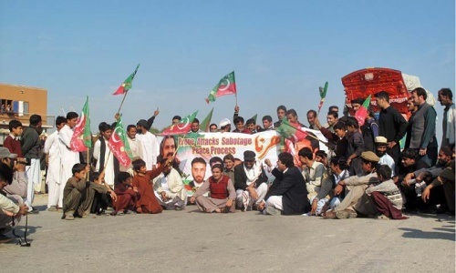 PTI activists search trucks for Nato supplies