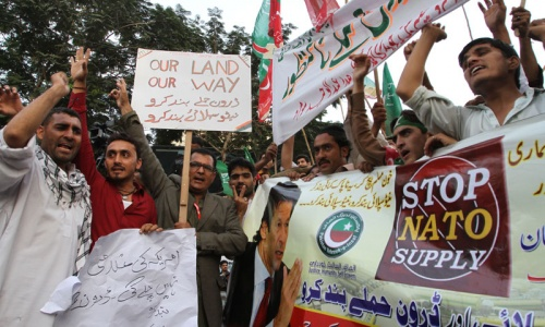 Pakistan protests may make US fly war cargo out