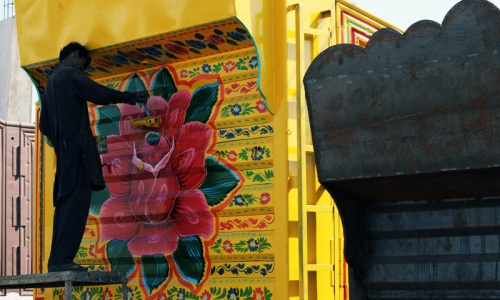 Pakistan's truck art masters fret over Nato withdrawal