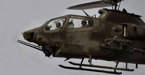 Gunship helicopters pound militant hideouts in Waziristan
